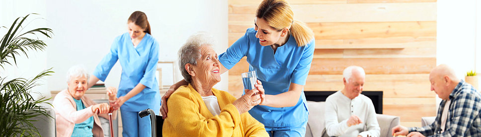 caregivers with their patient