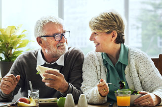 old couple having sweet moments